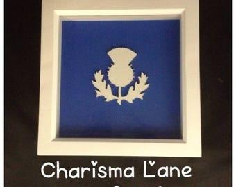 Scottish Thistle Blue Wall Decor
