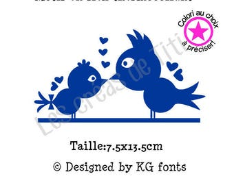 Heat transfer birs love, heat transfer to iron, birds iron on, heat transfer design to iron on clothes, iron on decal birds