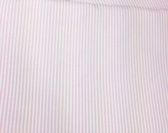 LIGHTWEIGHT THIN WHITE STRIPES COTTON AND 40/150 CM LIGHT PINK