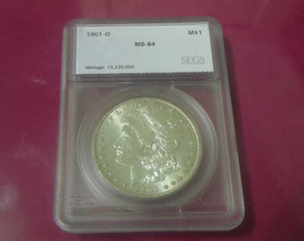SEGS MS 64 1901-O Morgan One Dollar