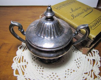 Silver - Copper Double Plated Covered Sugar Dish