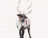 Classic Reindeer + Bonus Christmas Tree Farm Background