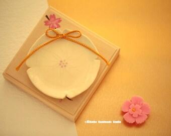 Sakura Wedding ring holder,ring box,ring pillow,ring dish,Wedding ring plate,Ring Bearer,Ring Bowl,Ring pillow alternative,We Do Ring dish