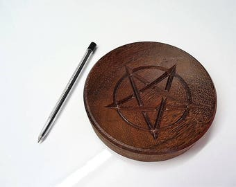 pentagram, pentagram bowl, wicca, wiccan, witch, pagan, wiccan jewelry, witchcraft, occult, gothic, pentacle, esoteric, dark, halloween