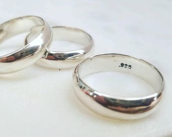 Heavy silver ring band