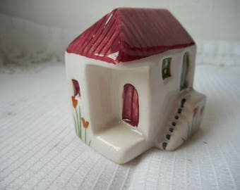 vintage Greek hand made and hand painted collectable miniature house