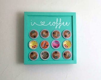 K Cup Holder | Coffee Pod Storage | Wall Mounted Coffee Pod Shelf | Coffee Gift | Coffee Lover | Coffee Bar Decor | Kitchen Decor | Coffee