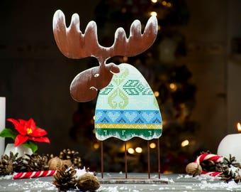 Christmas moose gift Christmas decor Moose ornaments Christmas ornaments Holiday decoration Winter room decor Xmas decor Christmas deer gift