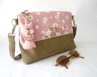 """Small zippered shoulder bag """"In the Pink"""""""
