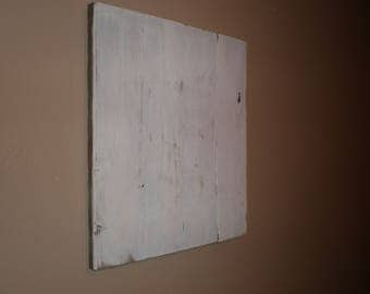 Distressed White Pallet Wood Canvas, Blank Pallet sign, DIY Wood Sign, Crafting, String Art, DIY sign canvas, Distressed Wood Canvas