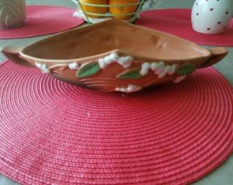 Vintage Roseville Pottery Snowberry Bowl/Dish