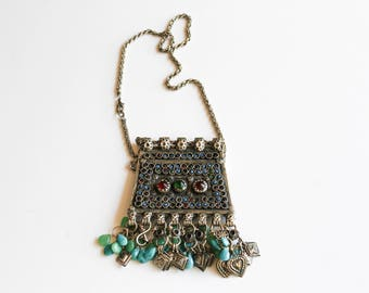 Vintage Bohemian Afghan Necklace