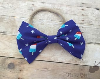 Patriotic Headband - Fourth of July Headband - Patriotic bow - 4th of July Bow - Fourth of July Bow - Independence Day Bow