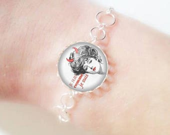 Bracelet fine silver with 18 mm cabochon * I am * (040218)