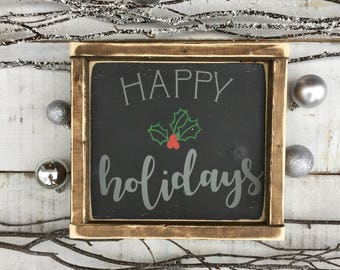 Happy holidays/ holiday decor/ christmas decor/ christmas/ farmhouse decor/ home decor/ wall decor/ gifts/