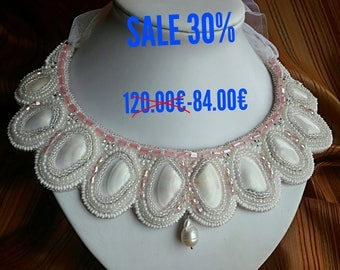 sale  necklace for evening beadwork
