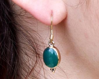 Bronze Earrings, Stone Earrings, Dangle Earrings, Drop Earrings, Ethnic Earrings, Tribal Earrings