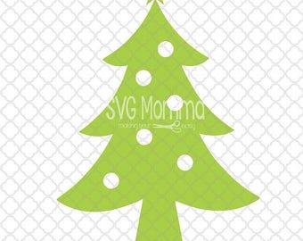 Simple Christmas Tree SVG Design