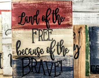Military and American Pride pallet sign, rustic American signs, Gallery wall Signs, Military pallet signs, USA sign,  Soldier art