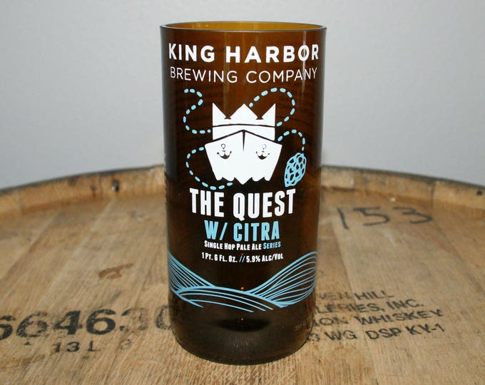 UPcycled Pint Glass - King Harbor Brewing - The Quest