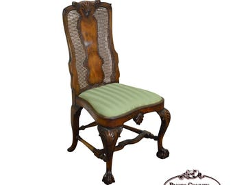New York Vintage Ball And Claw Foot Side Chair