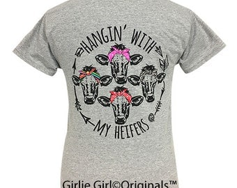 Girlie Girl Originals My Heifers Sport Grey Short Sleeve T-Shirt