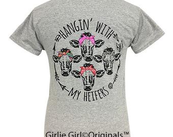 Girlie Girl Originals My Heifers Sport Grey Short Sleeve T-Shirt