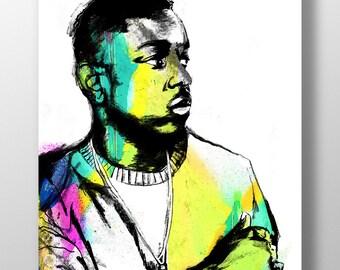 Kendrick Lamar Illustration - High Quality A3 / A2 Print