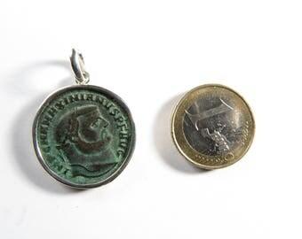 Vintage Roman genius pendant, guardian angel