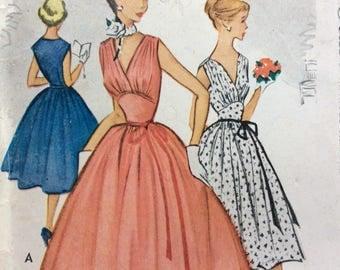 McCall's 8901 junior misses dress size 15 bust 33 vintage 1950's sewing pattern  Uncut  Factory folds