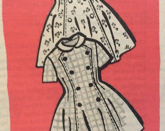 Mail order 4901 girls dress size 10 vintage 1960's sewing pattern