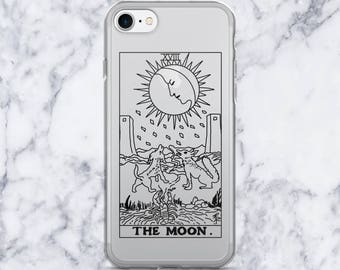 The Moon Tarot Card Clear iPhone 7 Case, iPhone 7/7plus, iPhone 6/6 Plus, iPhone 5