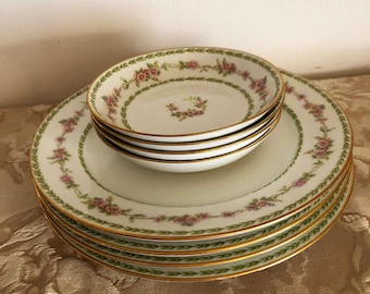 Haviland  4 lunch plates  and 4 fruit bowls Chas Field