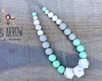 Teething Necklace/ DIY Silicone Teething/ Nursing Necklace/ Teething Toy/ Silicone Beads/ DIY Teething/ For Mom/ Tula Accessory
