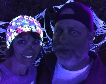 Glow in the dak beanies