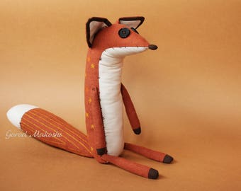 25 cm The  LITTLE PRINCE FOX - sale - 39 usd not 51 - original plush little toy - The serie Prince