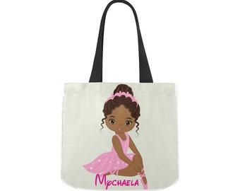 Little Ballerina Tote bag, Tote Ballet Bag, Tutu Bag, Ballet Bag, Dance Bag, Personalized Dance Bag,Custom Gymnastics Bag, Girls Dance Bag