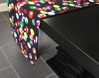 Table Runner - Pool Balls Billiards