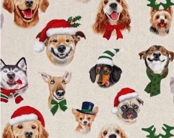 Christmas Dogs Valance Curtain