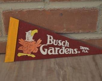 Vintage Felt Busch Gardens Souvenir Pennant