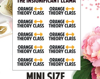 Orange Theory Fitness - OTF Class - Fitness - Gym - Exercise - Planner Stickers