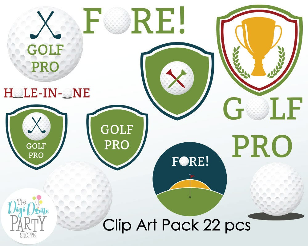 Golf digital scrapbooking clip art buy 2 get 1 free for Buy digital art online