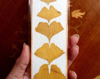 Handmade pressed Leaf Bookmark