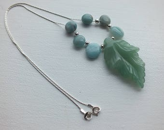 Sterling Silver Amazonite  Necklace