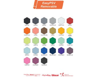 """Siser EasyPSV Removable Adhesive Sign Vinyl - 12"""" x 1 ft, 1, 5, 10, 25, 50 Yd FREE Shipping"""