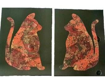 Art - Artwork - Home Decor - Decor - Kool Kitty Twins & Friendship Artwork