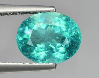 Paraiba Blue Apatite 1.68 Cts Oval Loose Gemstone Fpd3
