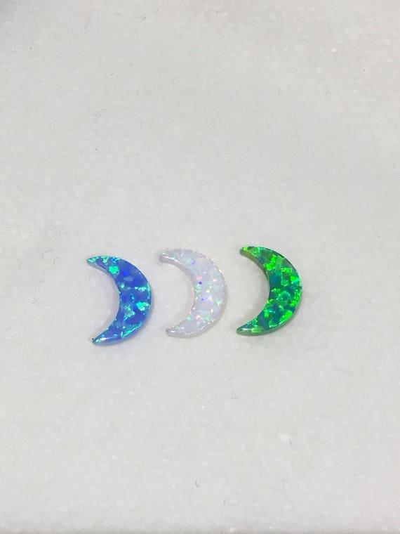 Opal Moon Pendants • DIY Opal Moon Charms • White Opal Moon • Blue Opal Moon • Green Opal Moon