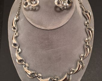 Vintage 1950's /60's CHAREL necklace and earrings