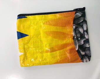 Upcycled Sunflower Seed Bag Pouch